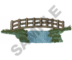 CREEK BRIDGE embroidery design