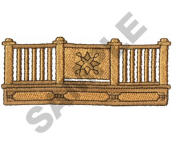 FENCE WITH GATE embroidery design