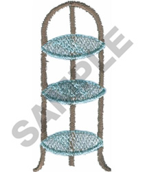 TIERED END TABLE embroidery design