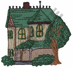 VICTORIAN HOUSE embroidery design