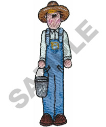 COUNTRY FARMER embroidery design