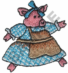 PIG DOLL embroidery design