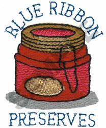 BLUE RIBBON PRESERVES embroidery design