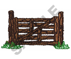 GATE embroidery design