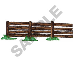 FENCE BORDER embroidery design