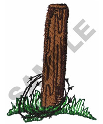 FENCE POST embroidery design