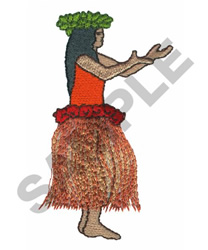 HULA GIRL embroidery design
