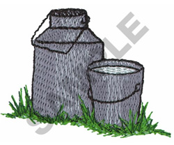 MILK CAN AND PAIL embroidery design