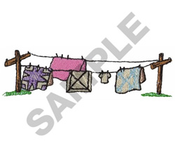 CLOTHES LINE embroidery design