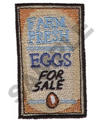 FARM FRESH EGGS FOR SALE embroidery design
