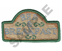 BED & BREAKFAST embroidery design