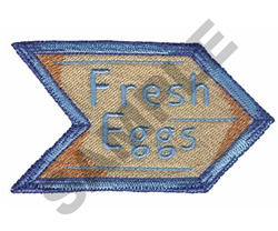 FRESH EGGS embroidery design