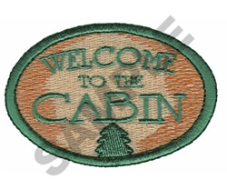 WELCOME TO THE CABIN embroidery design