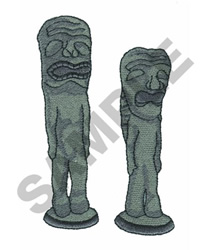 STATUES embroidery design