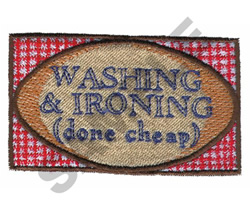 WASHING & IRONING DONE CHEAP embroidery design