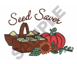 SEED SAVER embroidery design