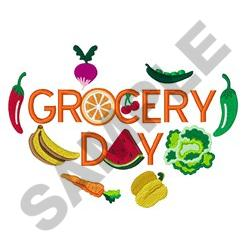 Grocery Day embroidery design