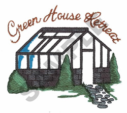 GREEN HOUSE RETREAT embroidery design