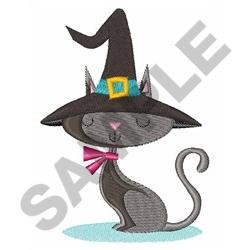 WITCHY CAT embroidery design