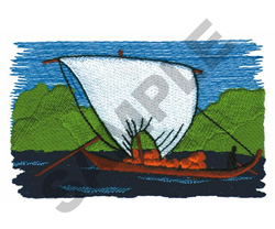 BOAT embroidery design