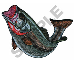 LG MOUTH BASS embroidery design