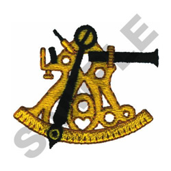 SEXTANT embroidery design