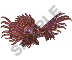 LION FISH embroidery design