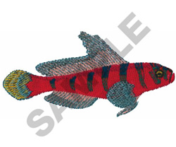 BLUE BANDED GOBY embroidery design