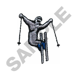 SKIER TWO -SMALL embroidery design