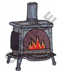 ANTIQUE FIREPLACE embroidery design