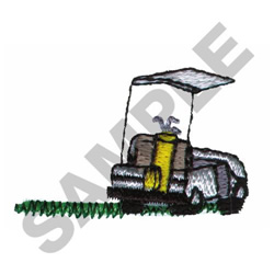GOLF CART embroidery design