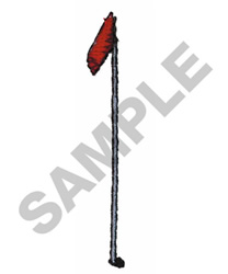 GOLF FLAG embroidery design