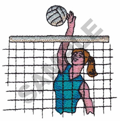 VOLLEYBALL PLAYER embroidery design