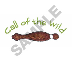 CALL OF THE WILD embroidery design