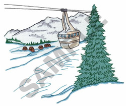 SKI LIFT embroidery design