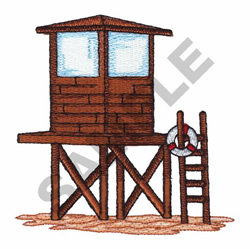 LIFE GUARD TOWER embroidery design