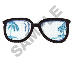 SUN GLASSES embroidery design