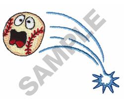SCREAMING BASEBALL embroidery design