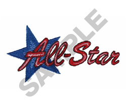 ALL STAR SIGN embroidery design