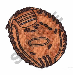 BASEBALL GLOVE embroidery design