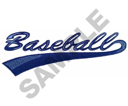BASEBALL SIGN embroidery design