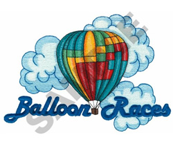 BALLOON RACES embroidery design
