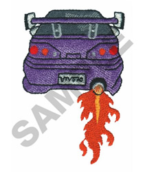 HOT WHEELS FLAMER embroidery design