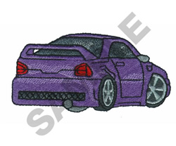 HOT WHEELS PURPLE embroidery design