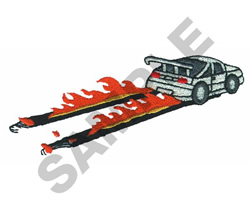 HOT WHEELS PEEL-OUT embroidery design