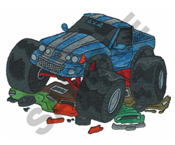 4 X 4 MONSTER TRUCK embroidery design