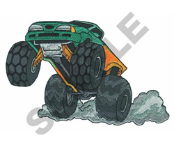MONSTER TRUCK - WHEELIE embroidery design