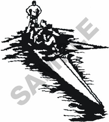 ROWING CREW embroidery design