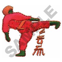 KARATE FIGURE embroidery design