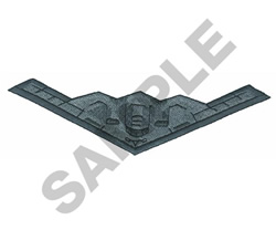 B-2 STEALTH BOMBER embroidery design